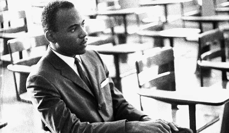 """Photographer Ed Meek's book, """"Riot: Witness to Anger and Change,"""" looks back on the events surrounding University of Mississippi's admission of James Meredith (pictured). Photo courtesy Edwin Meek"""