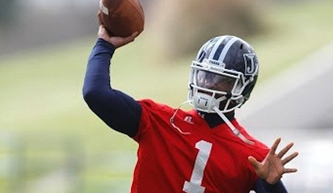 Jackson State University quarterback LaMontiez Ivy has played well this season despite a number of off-the-field distractions, including the university firing Head Coach Harold Jackson during a bye week. Photo courtesy Jackson State University Athletics/Wesley Peterson