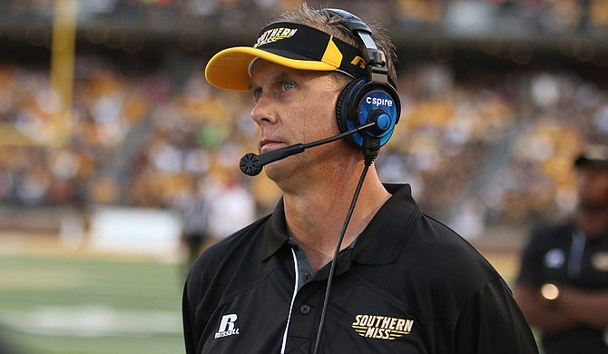 With the University of Southern Mississippi football program's turnaround this season, fans should be worried that a Power Five conference team may steal coach Todd Monken. Photo courtesy University of Southern Mississippi Athletics
