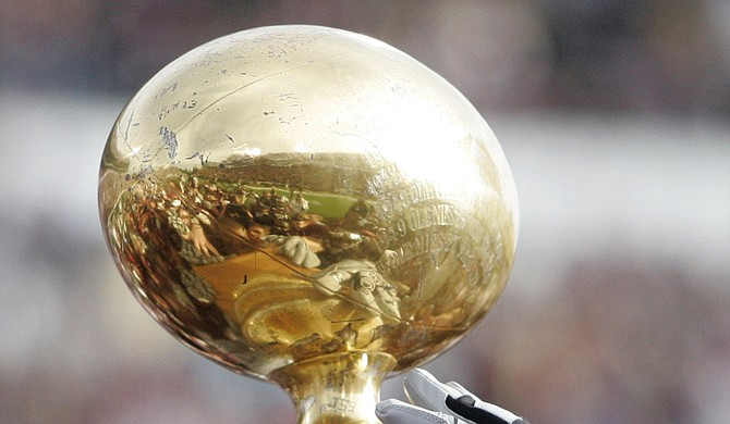 After beating Mississippi State University in the Egg Bowl, the University of Mississippi is going to the Sugar Bowl. Photo courtesy AP Photo/Rogelio V. Solis2