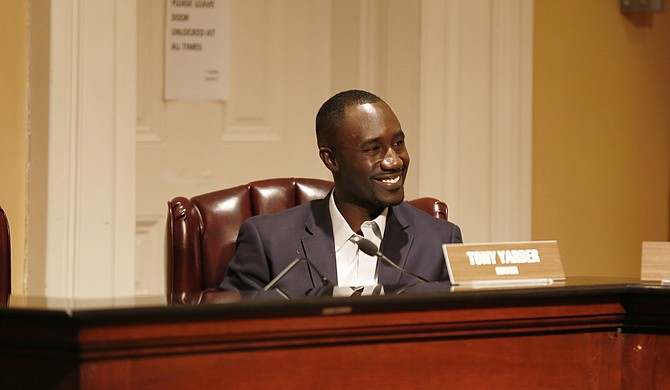 Like mother, like son, Mayor Tony Yarber never seems to stop moving.