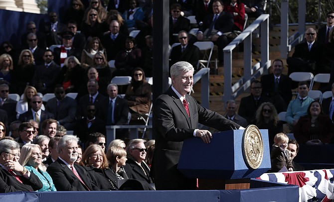 Gov. Phil Bryant took the oath of office on Jan. 12 at the Capitol.