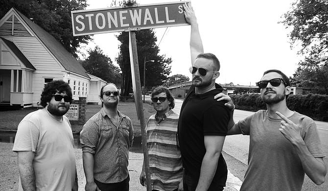 (Left to right) John David Harrison, Zac Clarke, Matthew Simonton, Andrew Brewer and Mitch Phillips of Stonewalls perform at Ole Tavern on George Street on Saturday, Jan. 23. Photo courtesy Corinthian Washington