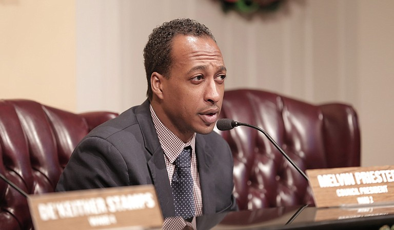 Ward 2 Councilman Melvin Priester Jr. rolled out a new ordinance to regulate transportation-network companies like Uber.