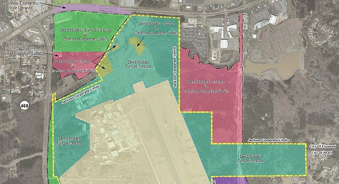 The above map displays tracts of land controlled and opened by the Jackson Municipal Airport Authority and the City of Jackson. The East Metro Parkway is adjacent to the right of JMAA land (the large pink area) that Entergy recently certified as shovel-ready land for development.