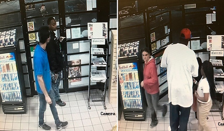 The Jackson Police Department released video surveillance photos of two individuals of interest in Saturday night's shooting that left one man dead and another wounded. Photo courtesy Jackson Police Department