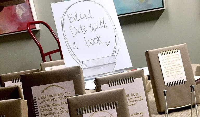 """At the 2016 Art Lovers' Soiree, Lemuria Books let patrons have a """"Blind Date With a Book."""""""