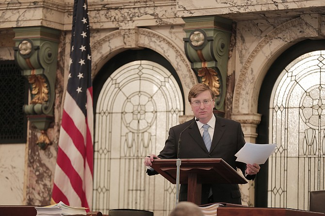 "Lt. Gov. Tate Reeves blessed the passage of a controversial ""Freedom of Conscience from Government Discrimination"" bill. """"This bill simply protects those individuals from government interference when practicing their religious beliefs,"" he said after the vote."