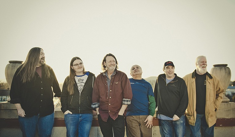 (Left to right) Dave Schools, Duane Trucks, John Bell, Domingo Ortiz, John Hermann and Jimmy Herring of Widespread Panic perform April 12-13 at Thalia Mara Hall. Photo courtesy Andy Tennille