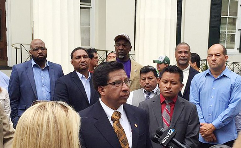 Julio Del Castillo, President of Latin American Business Association in Jackson, calls for public support as the Latino community attempts to fend for itself.