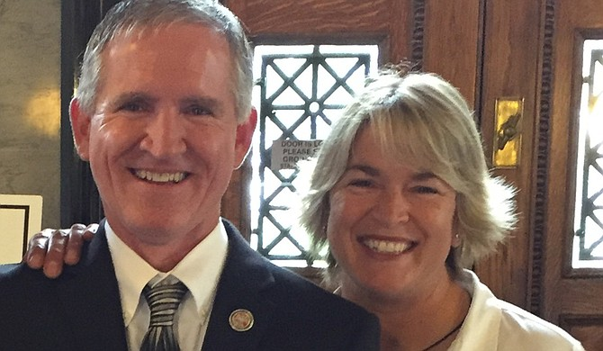 Holly Reichle (right) with House Representative Steve Massengill (left) Photo courtesy Holly Reichle