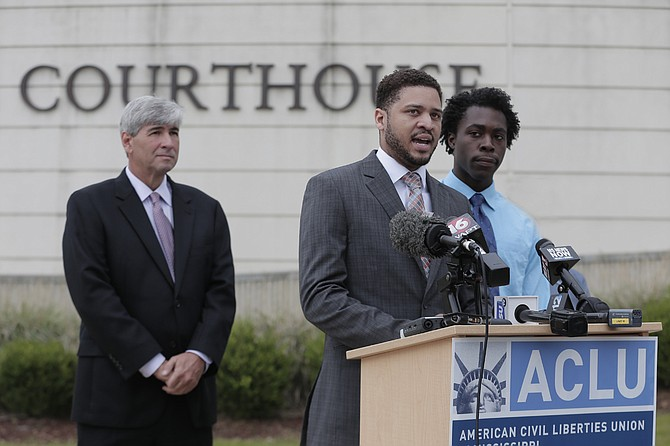 Oliver Diaz (left) is representing Nykolas Alford (middle) and Stephen Thomas (right), in a federal lawsuit filed today against the Mississippi State Registrar of Vital Records, challenging the constitutionality of House Bill 1523.