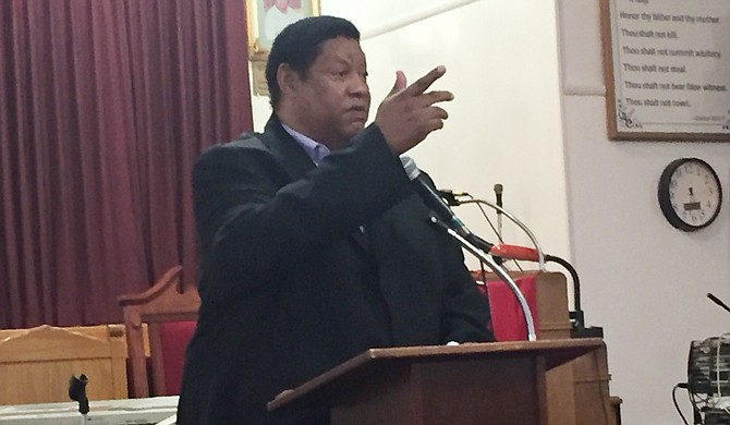 Ward 3 Councilman Kenneth Stokes met with members of the community at Cornerstone Baptist Church Wednesday night to discuss their response to the Department of Justice letter about high-speed chases for outside jurisdictions into Jackson.