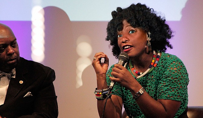 Actress and Mississippi native Aunjanue Ellis spoke at a Conversation on Race panel on June 9 at the Smith Robertson Museum and Cultural Center. She, along with other community advocates, will hold a rally on Tuesday, June 14, in Washington, D.C., urging the U.S. Congress and President Barack Obama to take down the Mississippi flag.