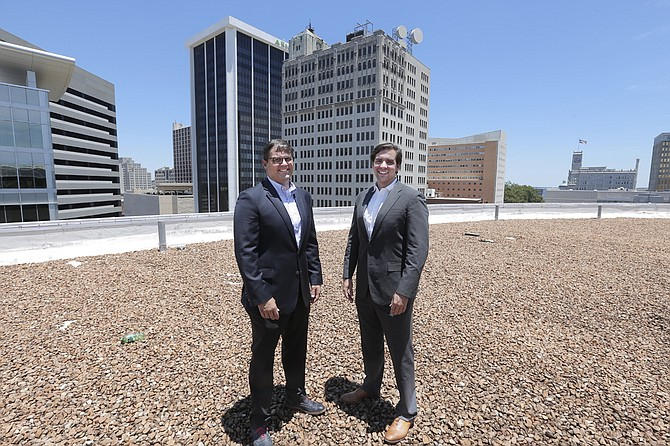 The Weinstein Nelson firm, here represented by partner Dyke Nelson and junior partner Bee McNamara, is renovating the Landmark Building, bringing the only grocery store downtown. The Jackson Free Press held its 2015 Best of Jackson party in the space.