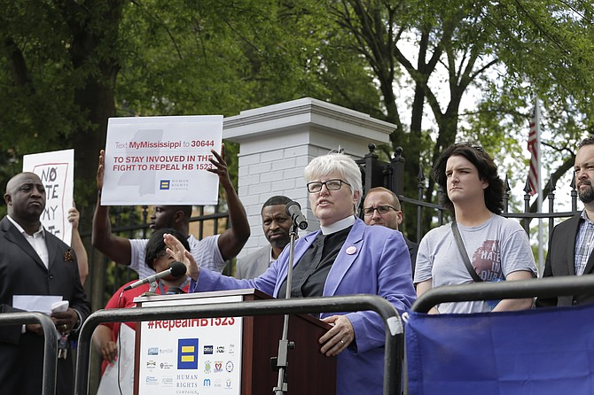 Rev. Susan Hrostowski, an episcopal priest and an associate professor at the University of Southern Mississippi, is a plaintiff in the third lawsuit and fourth legal challenge to House Bill 1523.