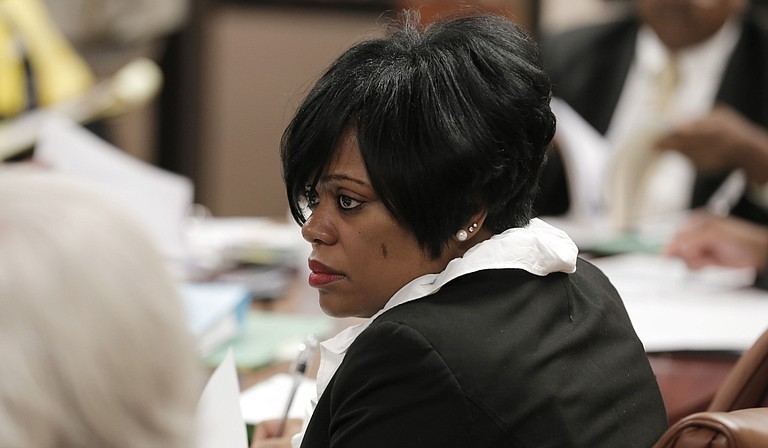Jackson Redevelopment Authority Chairman McKinley Alexander said during the board of commissioners' June 22 meeting that he would not support any policy to remove Andria Jones (pictured) from her position even though she is under indictment for fraud.