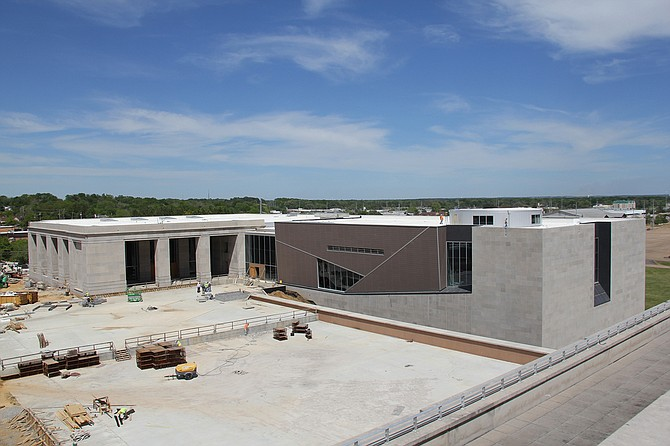The Museum of Mississippi History (on the left) and the Civil Rights Museum (on the right) are set to open in December 2017. Photo courtesy MDAH