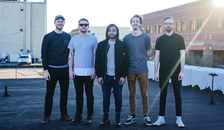 """(Left to right) Justin Moreira, Hayden Boyd, Salar Almakky, Cody Bass and Travis Bass of Jackson-based indie-pop band Dream Cult will release their debut full-length album, """"Weekend,"""" Friday, July 29. Photo courtesy Courtland Wells / Dime Entertainment Magazine"""