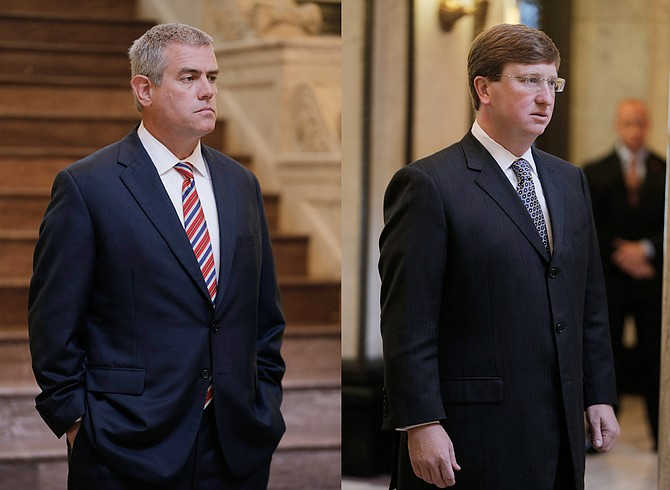 House Speaker Philip Gunn (left) and Lt. Gov. Tate Reeves (right) announced nine working groups, composed of lawmakers, to look closely at state agency budget expenditures over the next few months.