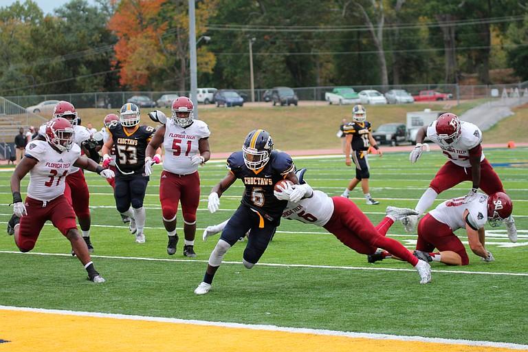 Mississippi College wide receiver Marcel Newson Photo courtesy Mississippi College Athletics