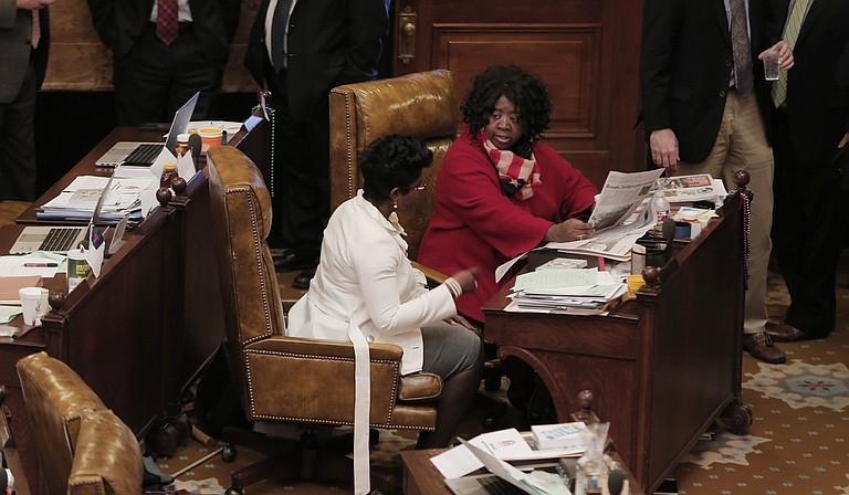 Rep. Adrienne Wooten, D-Jackson (left), and Rep. Omeria Scott, D-Laurel (right), are two of 14 female representatives in the Mississippi House of Representatives.