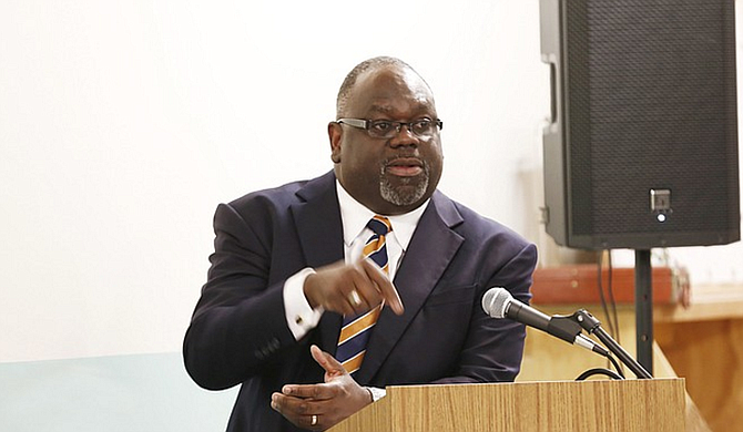 """U.S. District Judge Carleton Reeves struck down Carlos Moore's lawsuit against the Mississippi flag, while leaving the door open for another lawsuit against what he called """"a symbol borne of the South's intention to maintain slavery can unite Mississippians in the 21st century."""" File photo by Imani Khayyam"""