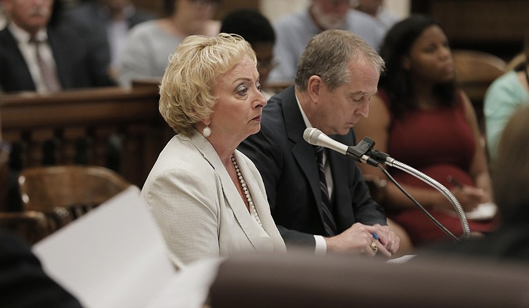 Dr. Carey Wright, state superintendent of education, spoke at MDE's working group meeting at Capitol on Sept. 8.