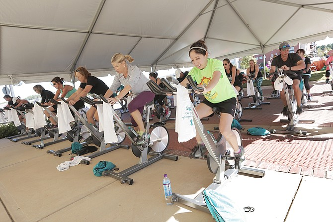 Riders at the third annual Ovarian Cycle Jackson event helped raise money for the Ovarian Cancer Research Fund Alliance on Sep. 29 in Ridgeland.