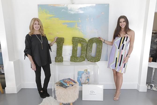 Cathy Joyner (left) began Bliss Bride in May. Sophie Lampton (right) runs it.