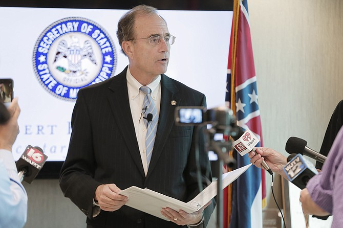 Secretary of State Delbert Hosemann said Mississippi voters requested 71,544 absentee ballots for this year's election; that number is down from the 2012 presidential election when Mississippians requested 106,722 absentee ballots.