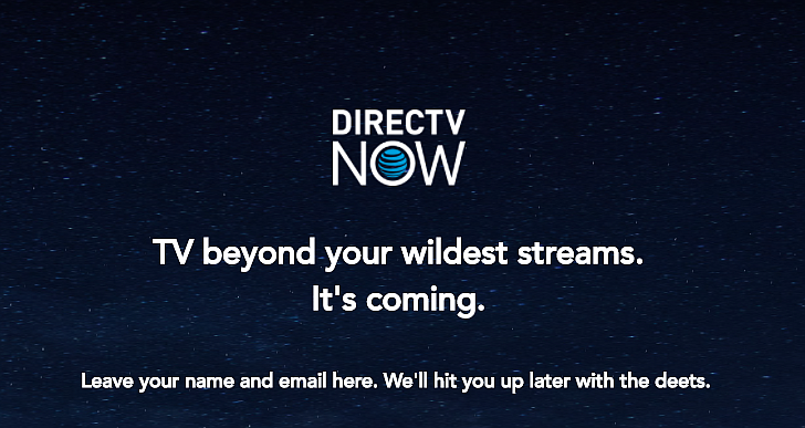 DirectTV Now will be formally announced on November 30, 2016. (Screencap: directvnow.com)
