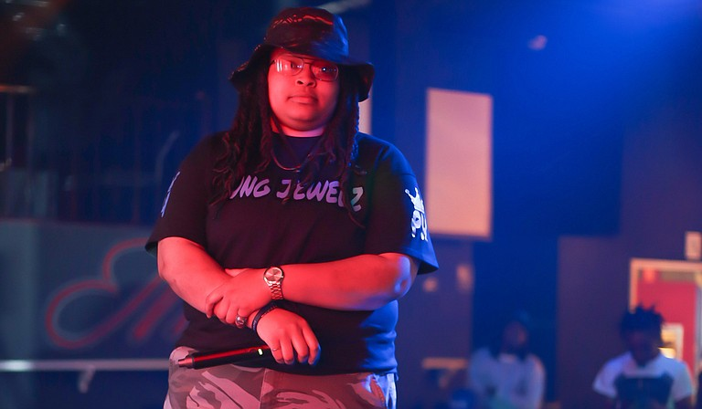 """Twenty-two-year-old Jackson hip-hop artist Yung Jewelz has been performing publicly for about a year and released her debut mixtape, """"Hipster Talk,"""" in February. Photo courtesy Sneakerboxx Photography"""