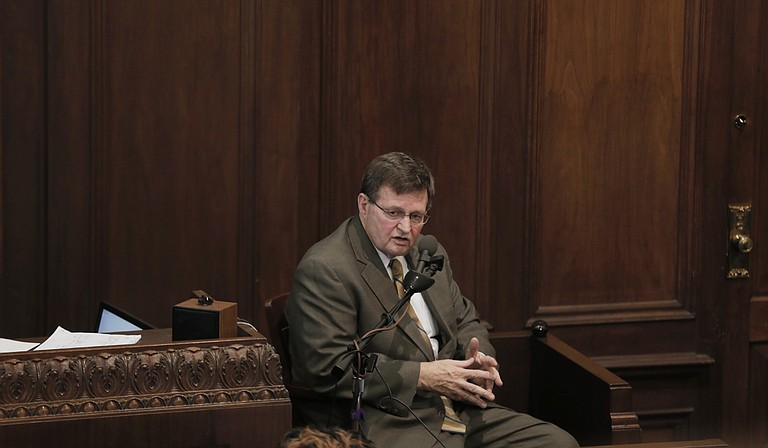 Tupelo attorney Jim Waide, representing Hinds County District Attorney Robert Shuler Smith, took the stand to testify for the state, giving the defendant the opportunity to ask his own attorney questions under oath.