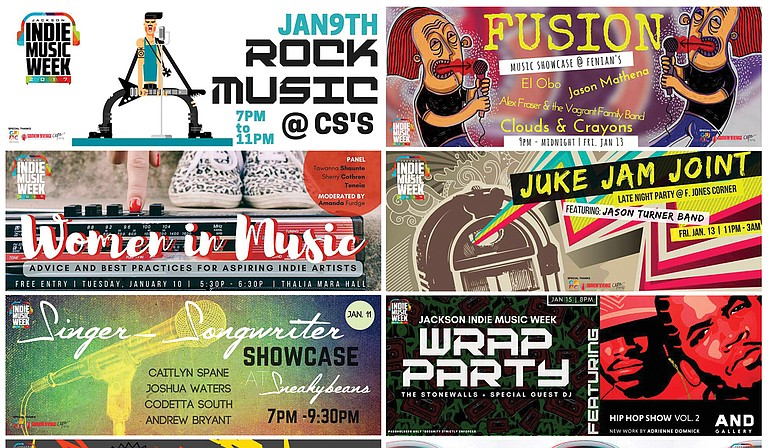 The second annual Jackson Indie Music Week, which takes place Jan. 8-15, includes a variety of concerts, showcases and music-industry panels.