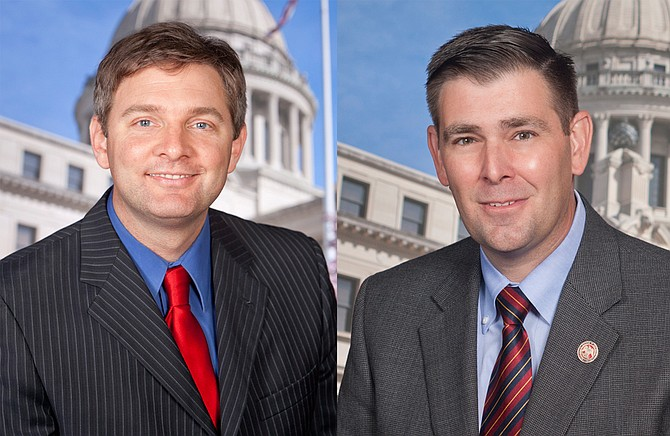 Gov. Phil Bryant appointed Sen. Joey Fillingane, R-Sumrall, (left) and Rep. Andy Gipson, R-Braxton, (right) to represent the Mississippi Legislature at Donald Trump's inauguration ceremony in Washington, D.C., on Jan. 20. Photo courtesy Mississippi House of Representatives