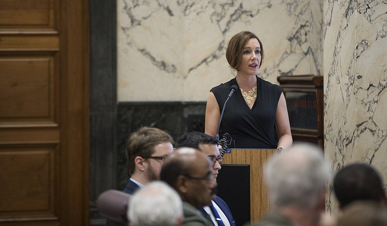 EdBuild CEO Rebecca Sibilia presented the nonprofit's recommendations to Mississippi lawmakers on Monday, Jan. 16, the deadline for filing bills for the 2017 legislative session.