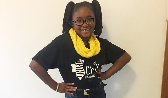 Young entrepreneur Kinyah Braddock is selling fresh, hand-squeezed lemonade by the gallon all over the Jackson Metro under the brand name B Chill Lemonade. Photo courtesy Kinyah Braddock