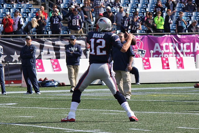Tom Brady, quarterback of the New England Patriots, is competing for a record fifth Super Bowl victory.