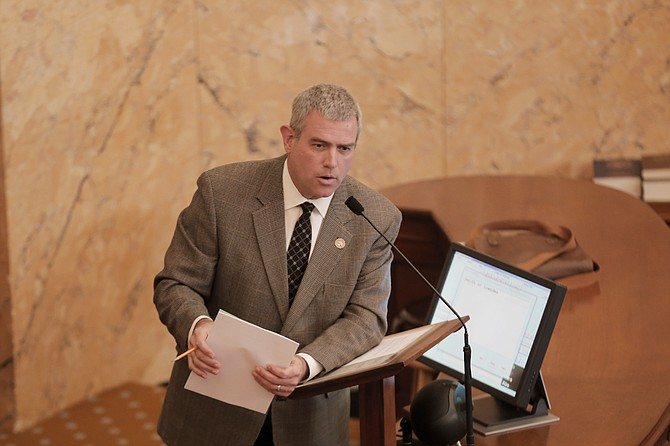 """House Speaker Philip Gunn, R-Clinton, authored a bill that will lessen restrictions and reporting requirements on the state's """"A"""" and """"B"""" school districts—the House passed the legislation Monday, Feb. 6."""