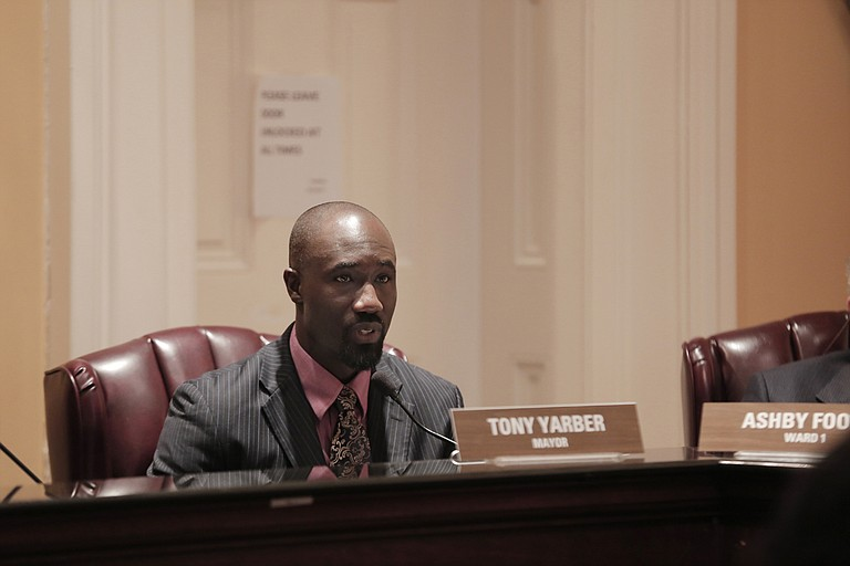 Mayor Tony Yarber says he has taken a hands-off approach to the awarding of contracts in Jackson, a statement that a lawsuit disputes.