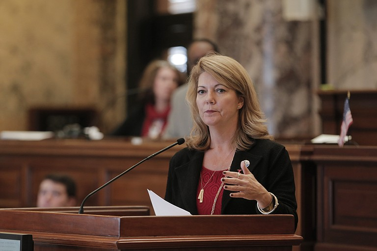 Sen. Sally Doty, R-Brookhaven, presented the Senate version of a campaign-finance reform bill on Wednesday, Feb. 9; the bill passed by a large margin.