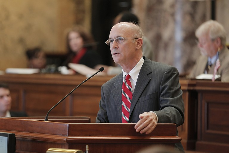 Sen. Hob Bryan, D-Amory, spoke vehemently against Senate Bill 2567, which would put the governor in control of the state's mental health department instead of its board.