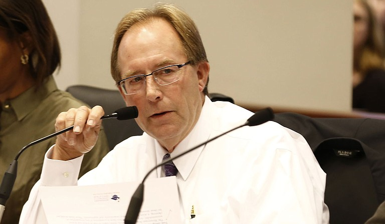 Rep. John Moore, R-Brandon, presented the Mississippi Department of Education budget bill on Wednesday, which did not mention or contain funding for the Mississippi Adequate Education Program.