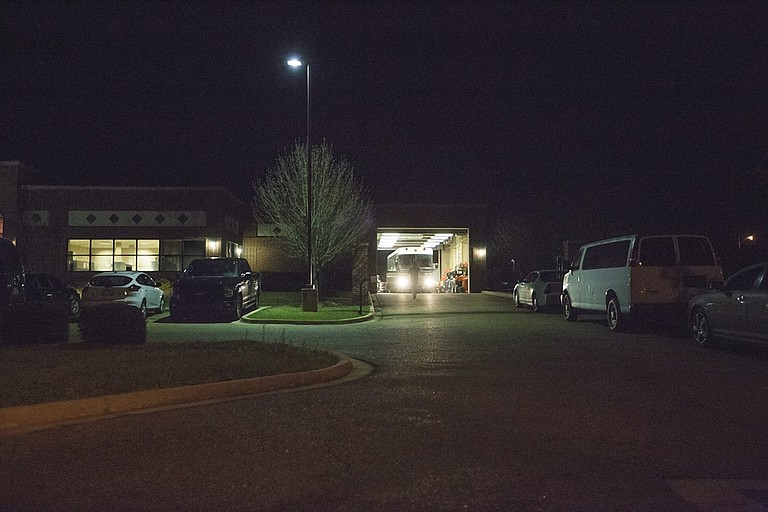 The Office of Homeland Security office in Pearl was active the night of Wednesday, Feb. 22, 2017, after U.S. Immigration and Customs Enforcement officials raided eight restaurants in Mississippi today. A large bus was at the site after dark.
