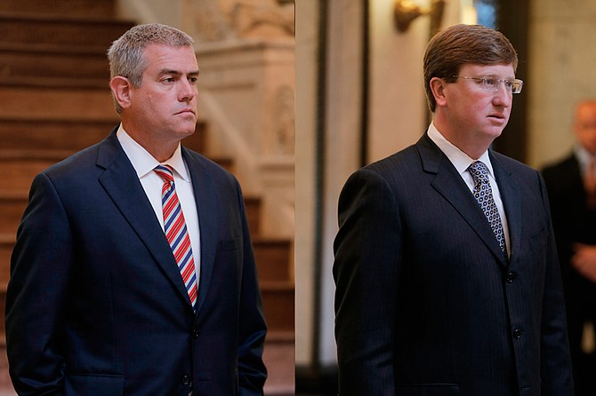 House Speaker Philip Gunn (left) and Lt. Gov. Tate Reeves (right) are controlling the development of a new education funding formula, largely behind closed doors. Low-income students have the most to lose.
