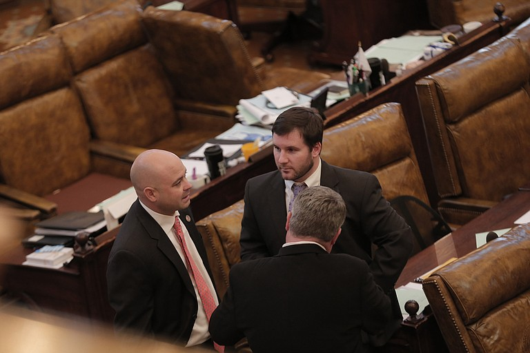 Rep. Trey Lamar, R-Senatobia, presented the House's latest bill to divert funds to the state's crumbling infrastructure, which passed overwhelmingly on March 9.