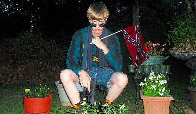 "In Georgia, which stopped Confederate History Month celebrations after neo-Confederate Dylann Roof (pictured) killed nine black churchgoers in neighboring South Carolina in 2015, a lawmaker is pushing to bring it back, citing Trump's election and the end of the era of ""political correctness."" Photo courtesy lastrhodesian"