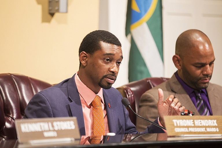 Jackson City Council President Tyrone Hendrix took the brunt of the ire from residents of the Villages of Northpointe on April 18, who want gates installed.