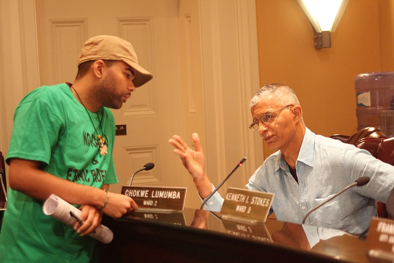 A younger Antar Lumumba was his father's confidante and co-conspirator on how to solve Jackson's problems. File Photo